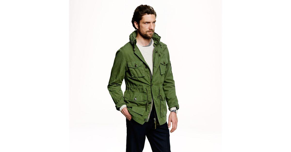 J Crew Field Mechanic Jacket In Green For Men Hillside