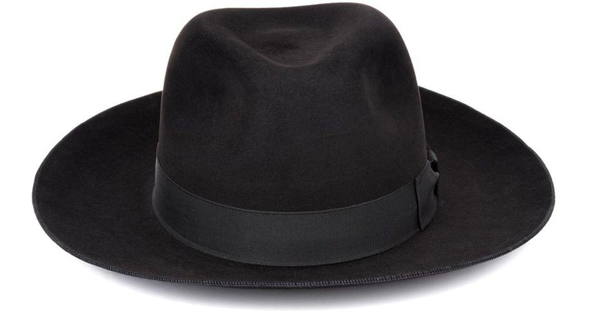 Lyst - Saint Laurent Classic Fur-felt Fedora in Black for Men 30a2fe6e5a6
