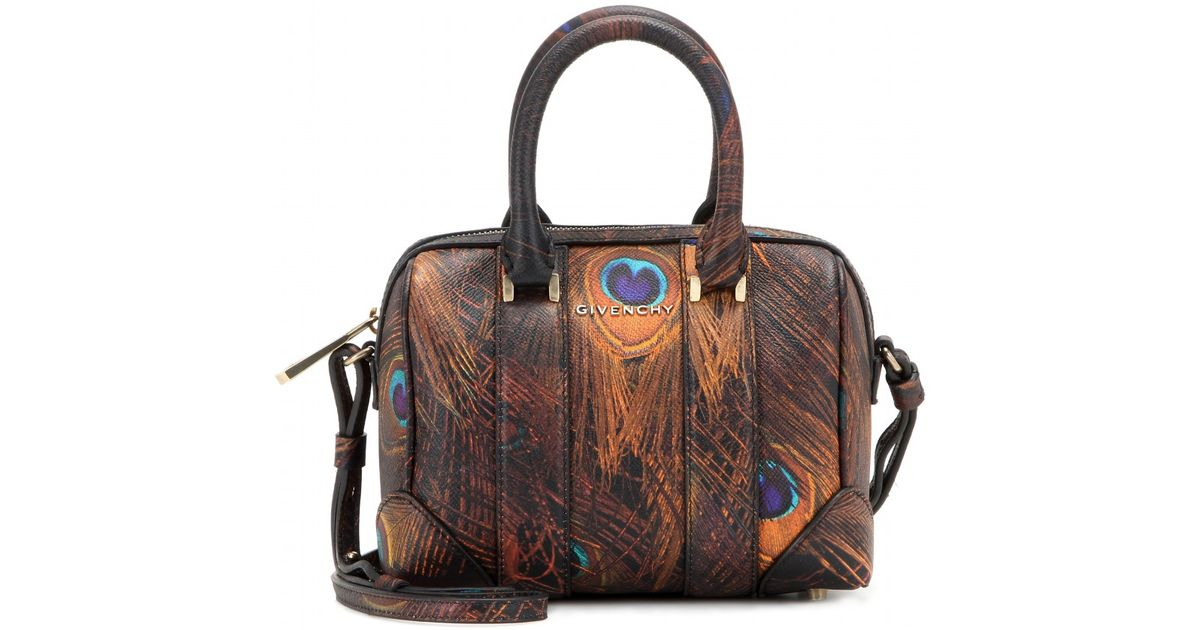 bowling Givenchy in in da marrone pelle Borsa stampata Lyst Lucrezia qfxfBtFwR