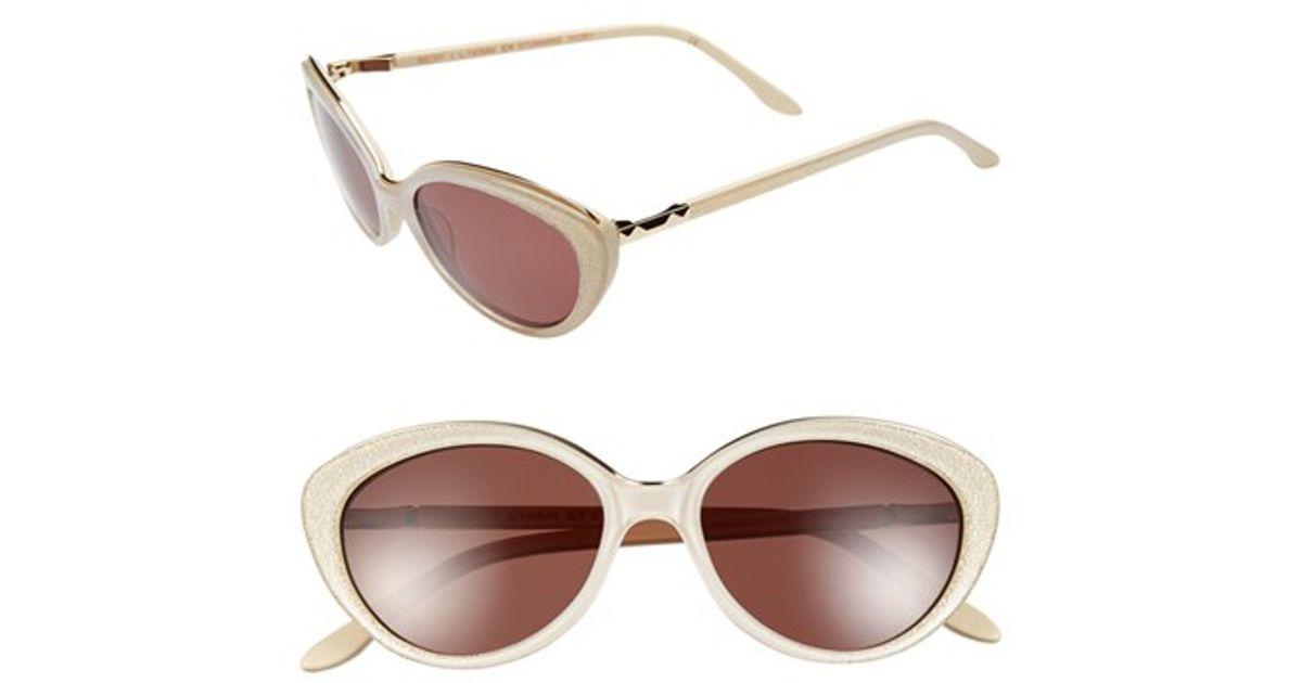 8fd65e88c2e96 BCBGMAXAZRIA  stunning  53mm Cat Eye Sunglasses - Stunning Ivory in White -  Lyst