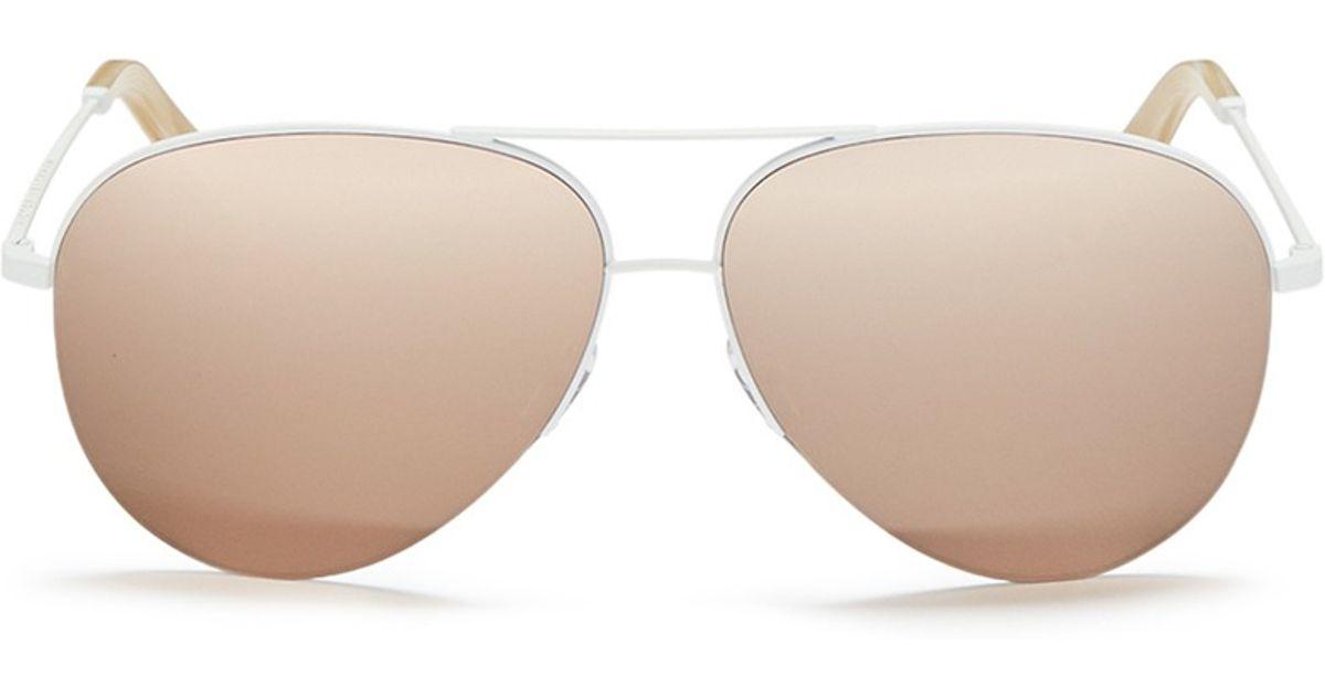 f3206f0fd1 Victoria Beckham  classic Victoria  18k Gold Plated Mirror Aviator  Sunglasses in Metallic - Lyst