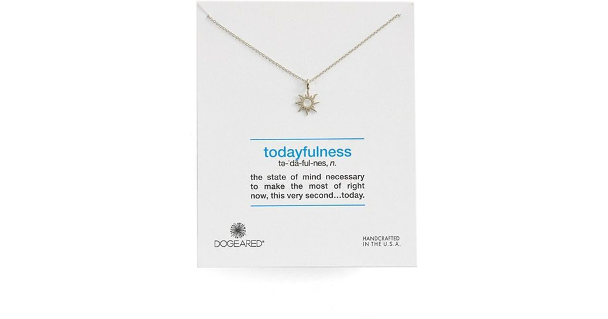 Lyst dogeared definitions defined todayfulness sunburst lyst dogeared definitions defined todayfulness sunburst pendant necklace in metallic mozeypictures Gallery
