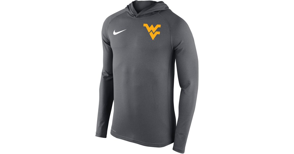 Lyst - Nike Men's West Virginia Mountaineers Stadium Dri-fit Touch Hoodie  in Gray for Men