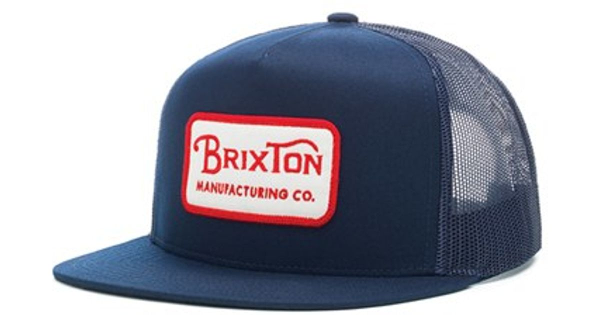 e23400e62 Brixton - Blue 'grade' Mesh Trucker Cap for Men - Lyst