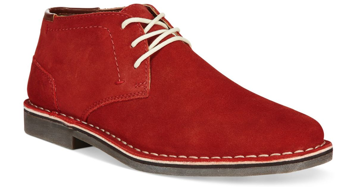 539d50b2a07645 Lyst - Kenneth Cole Reaction Desert Sun Suede Chukkas in Red for Men