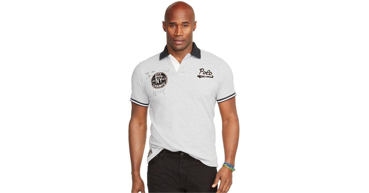 Polo ralph lauren big and tall custom fit mesh polo shirt for Big and tall custom shirts