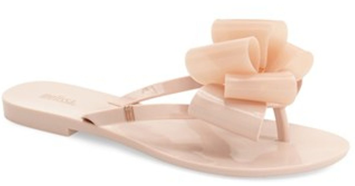Melissa Harmonic Bow Jelly Flip Flop In Pink  Lyst-4967