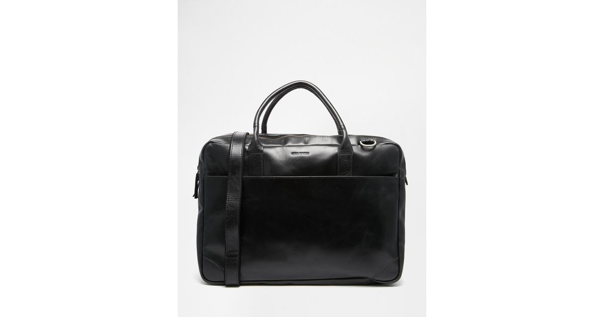 Lyst Royal Republiq Explorer Leather Laptop Bag With Double Compartment In Black For Men