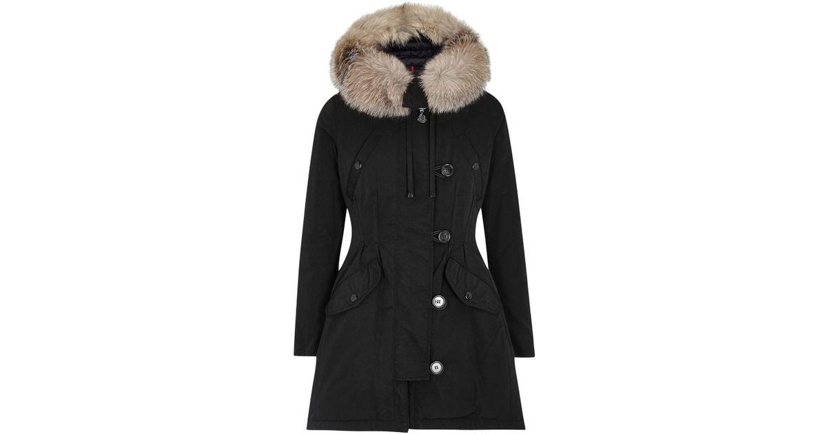 05b1c7a3d cheapest moncler arriette fur trim puffer coat for sale ba447 98592