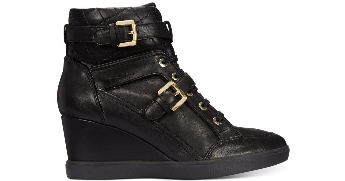77e629c2a6b8 Geox - Black D Eleni Wedge Sneakers - Lyst