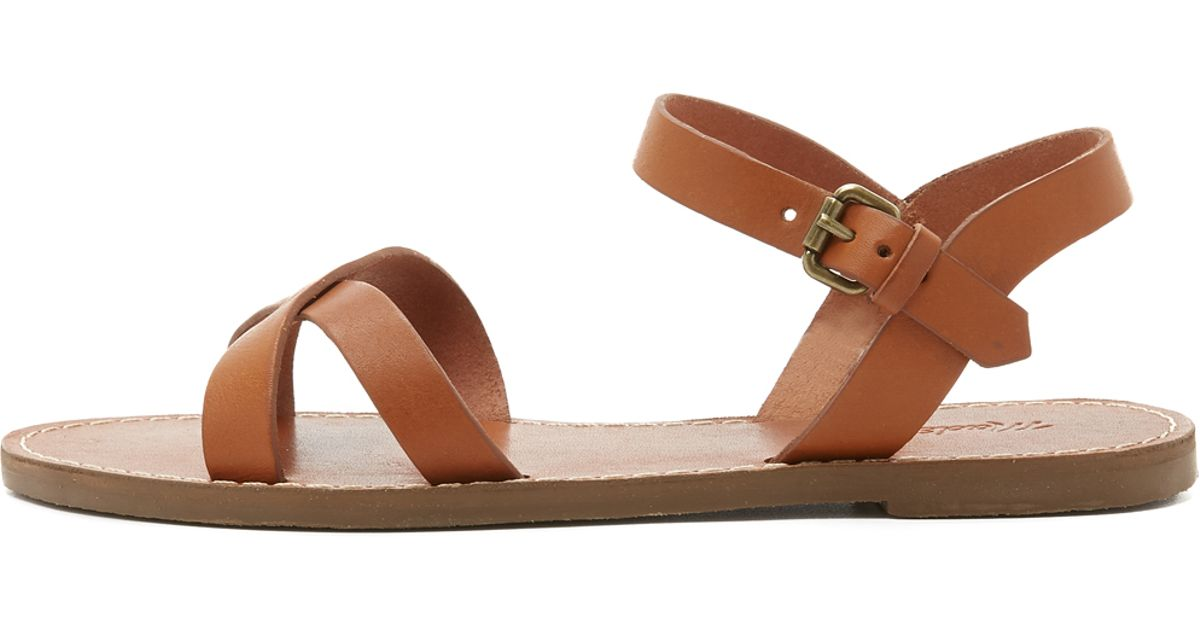d9888c271ec0 Lyst - Madewell Boardwalk Crisscross Sandals in Brown