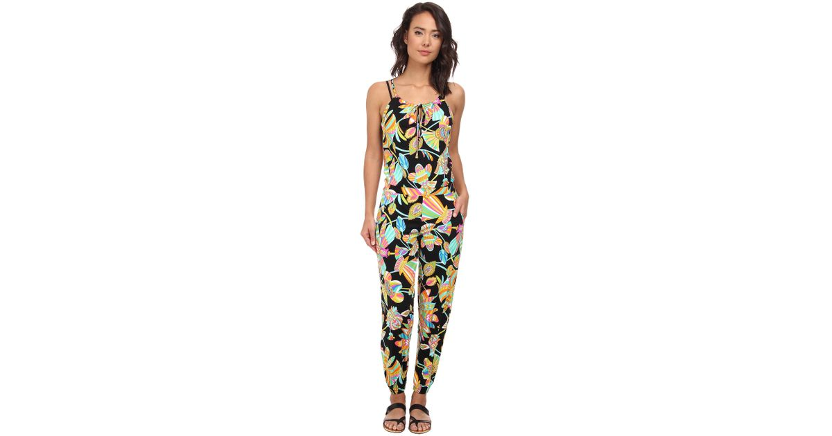 e9abe874d1 Lyst - Trina Turk Tahitian Floral Jumpsuit Cover-Up