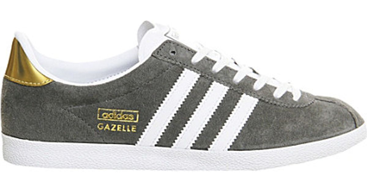 newest 982c8 f8c38 adidas Gazelle Og Trainers, Womens, Size 6, Ash White Gold in Gray - Lyst