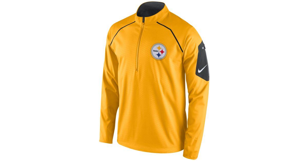 50d08d6ea Lyst - Nike Men s Pittsburgh Steelers Alpha Fly Rush Quarter-zip Jacket in  Yellow for Men