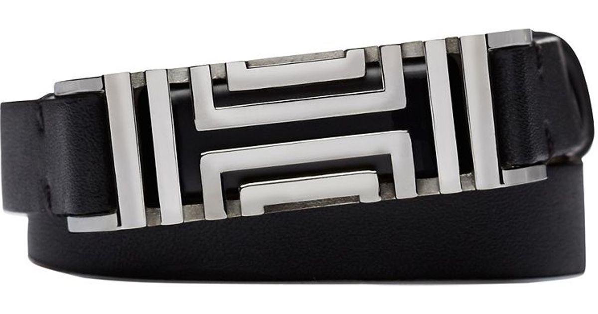22c888aef03 Lyst - Tory Burch For Fitbit Fret Double-wrap Bracelet in Metallic