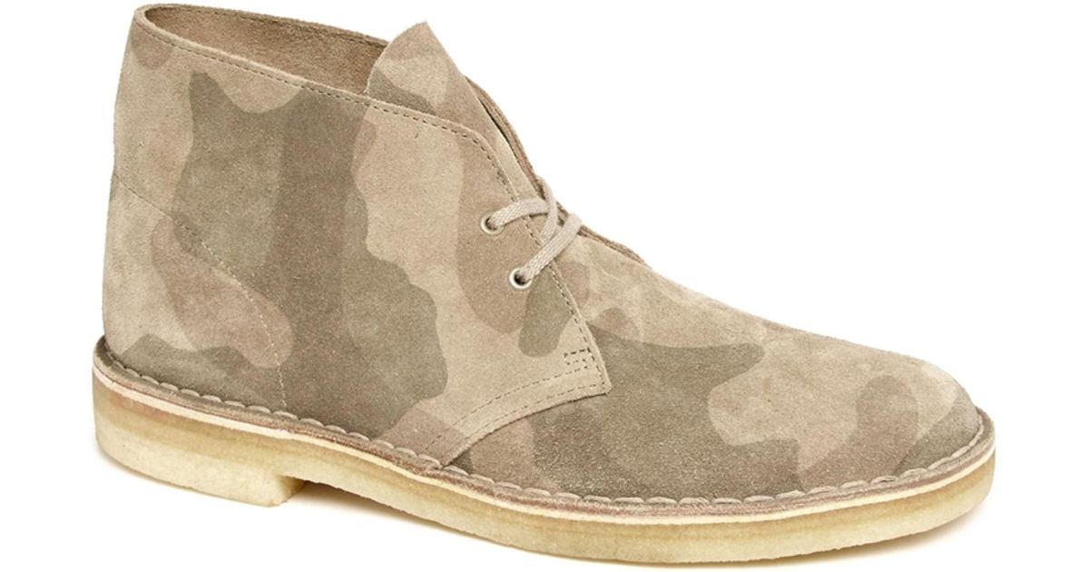 Lyst - Clarks Camo Desert Boots in Natural for Men 65772c9dcb3a