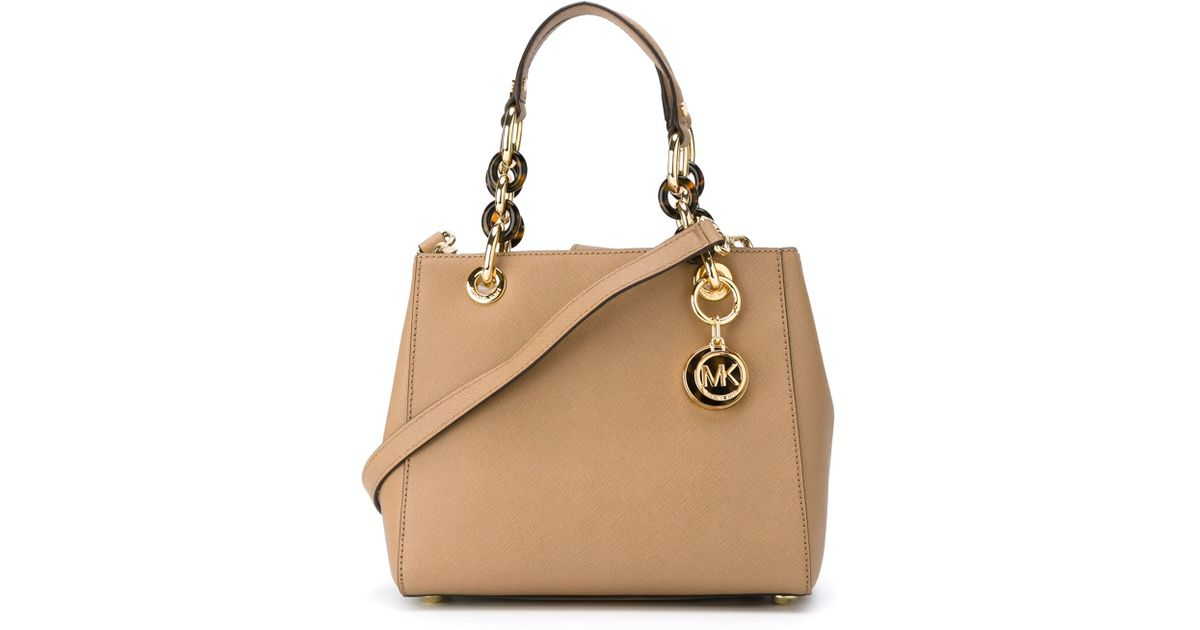 77d84bfd0384 MICHAEL Michael Kors 'cynthia' Tote in Brown - Lyst