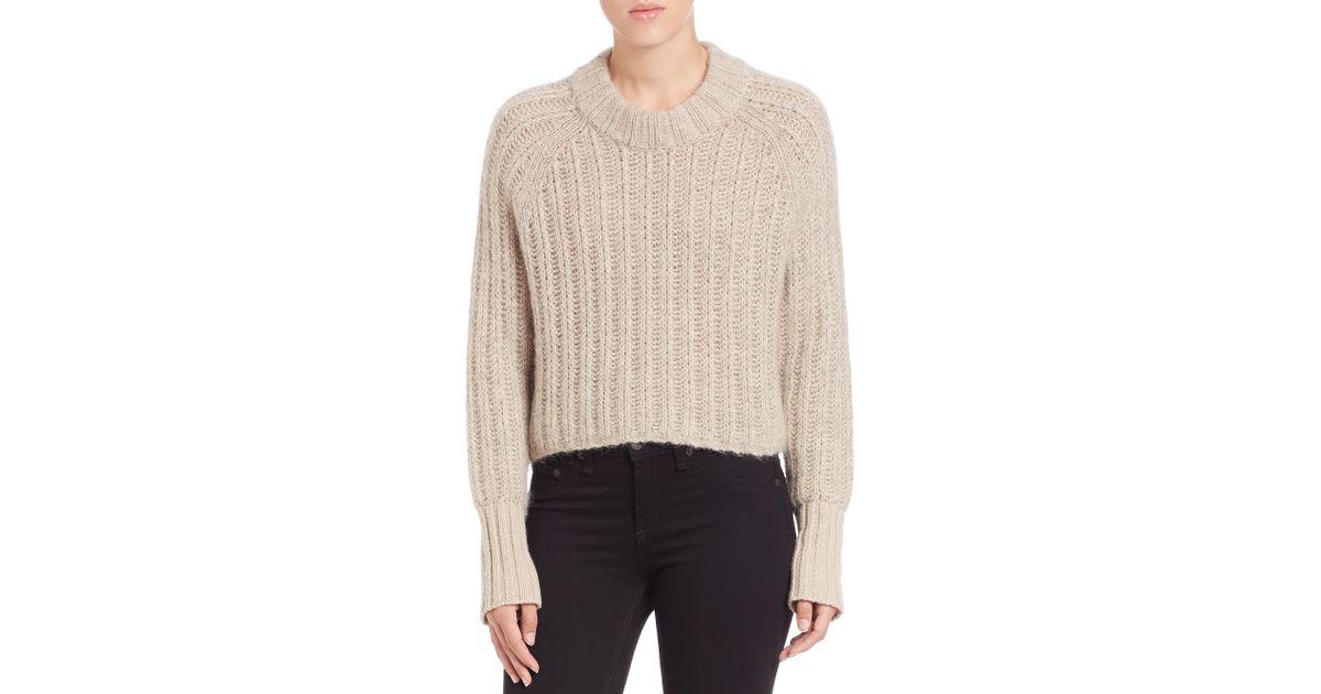 58504a86550 Lyst - Rag   Bone Makenna Wool-blend Sweater in Natural