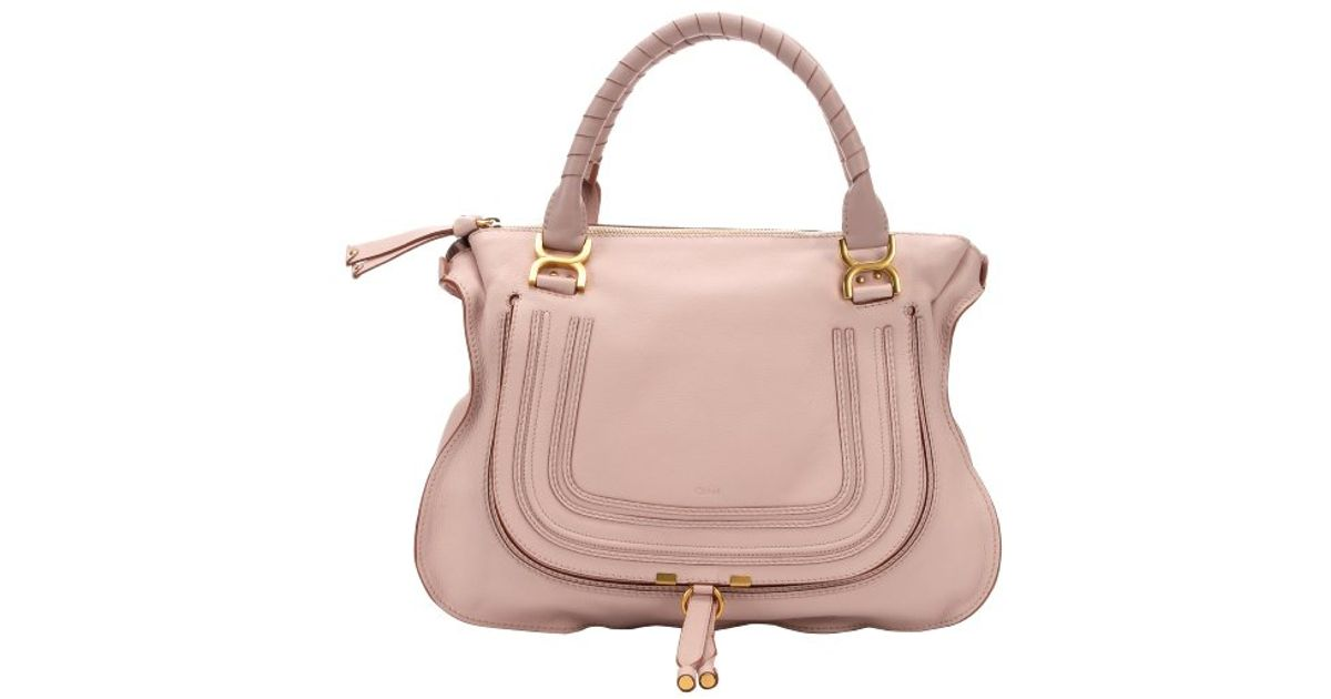 6dc5a0bdd0a Chloé Nude Pink Calfskin Large 'Marcie' Tote Bag in Pink - Lyst