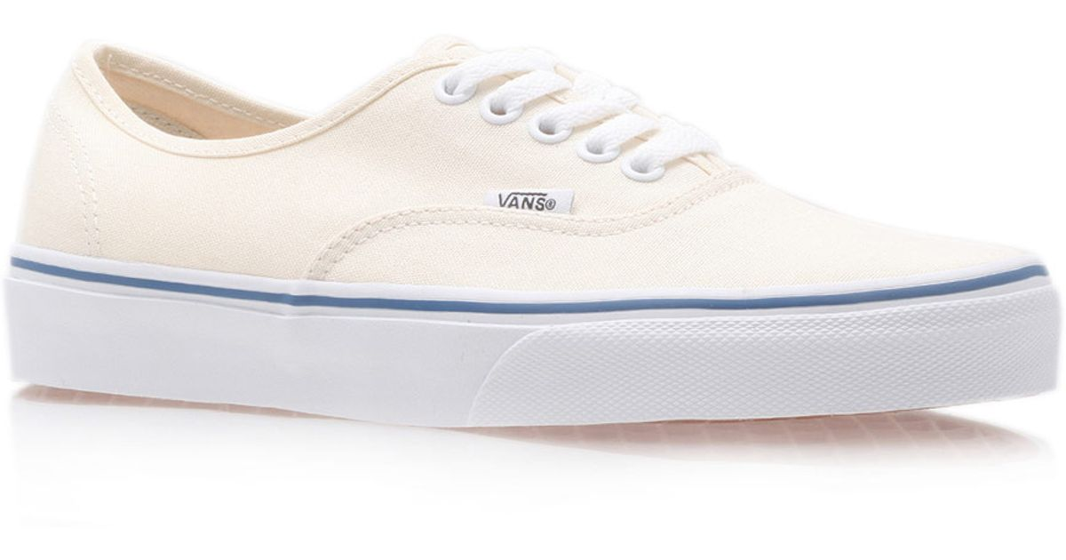 f3636ead55b32d Lyst - Vans Cream Authentic Classic Contrast Canvas Skate Shoes in Natural  for Men