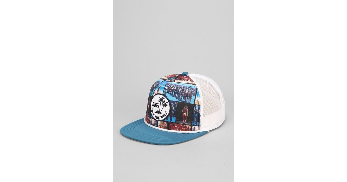 638da8e5f6fe9 Lyst - Vans Hank Foto Trucker Hat in Blue for Men