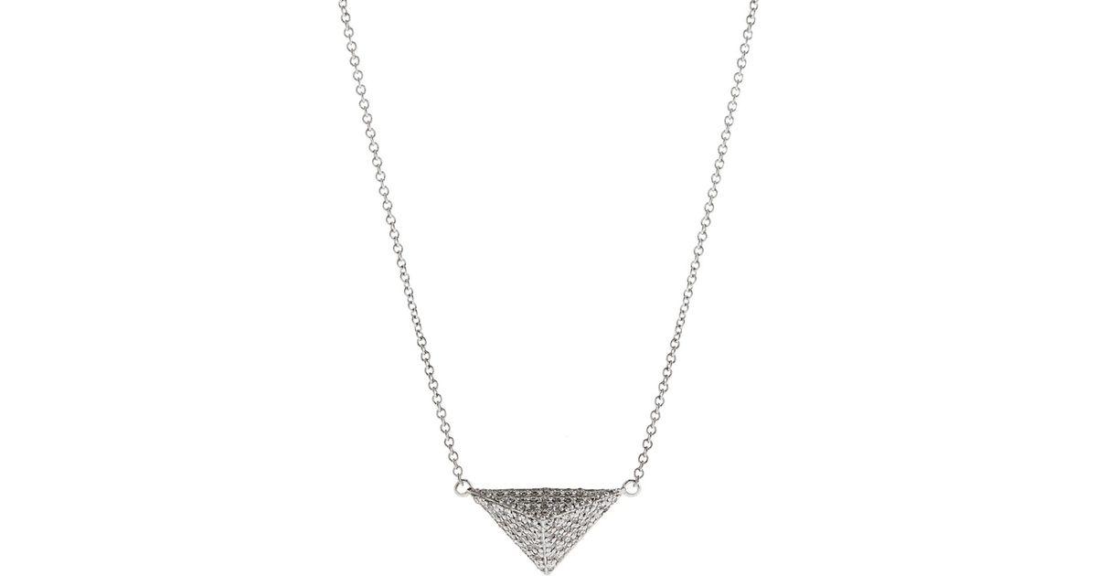 Ileana Makri Womens Pyramid Necklace hgT6uY
