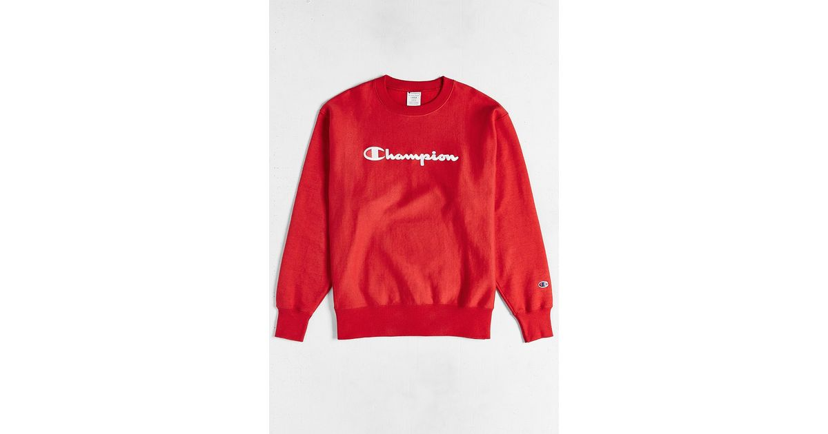 In Sweatshirt Champion Weave Lyst Men Reverse For Red tI6a8x