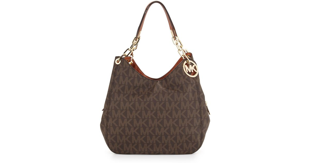 8a77c35c316a MICHAEL Michael Kors Fulton Large Tote Bag in Brown - Lyst