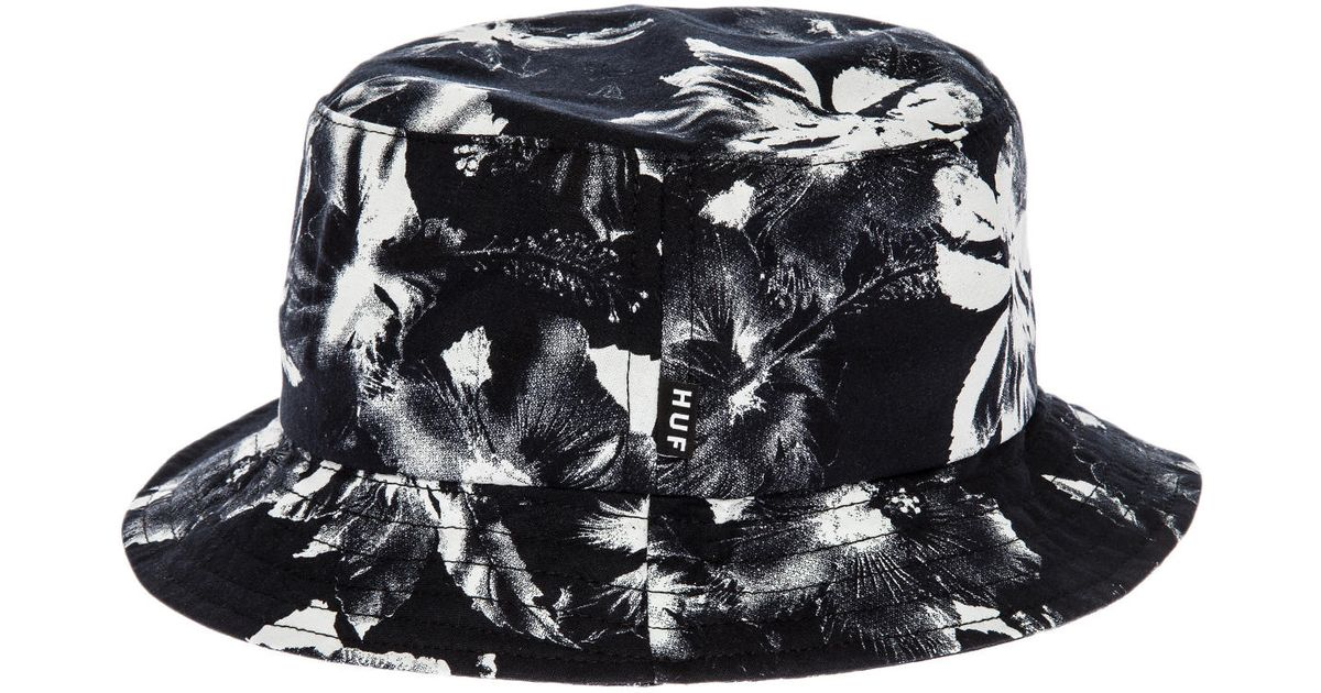 bbd3d94505e Lyst - Huf The Floral Bucket Hat in Black for Men