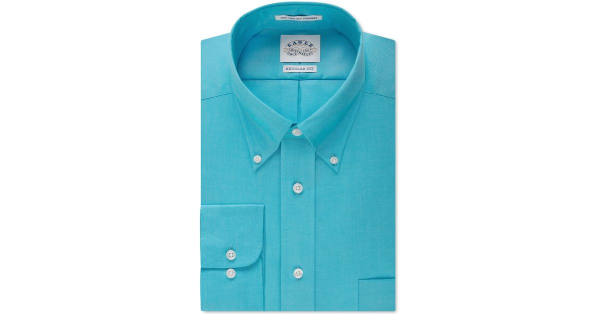 Lyst eagle men 39 s classic fit non iron pinpoint dress for Mens pinpoint dress shirts
