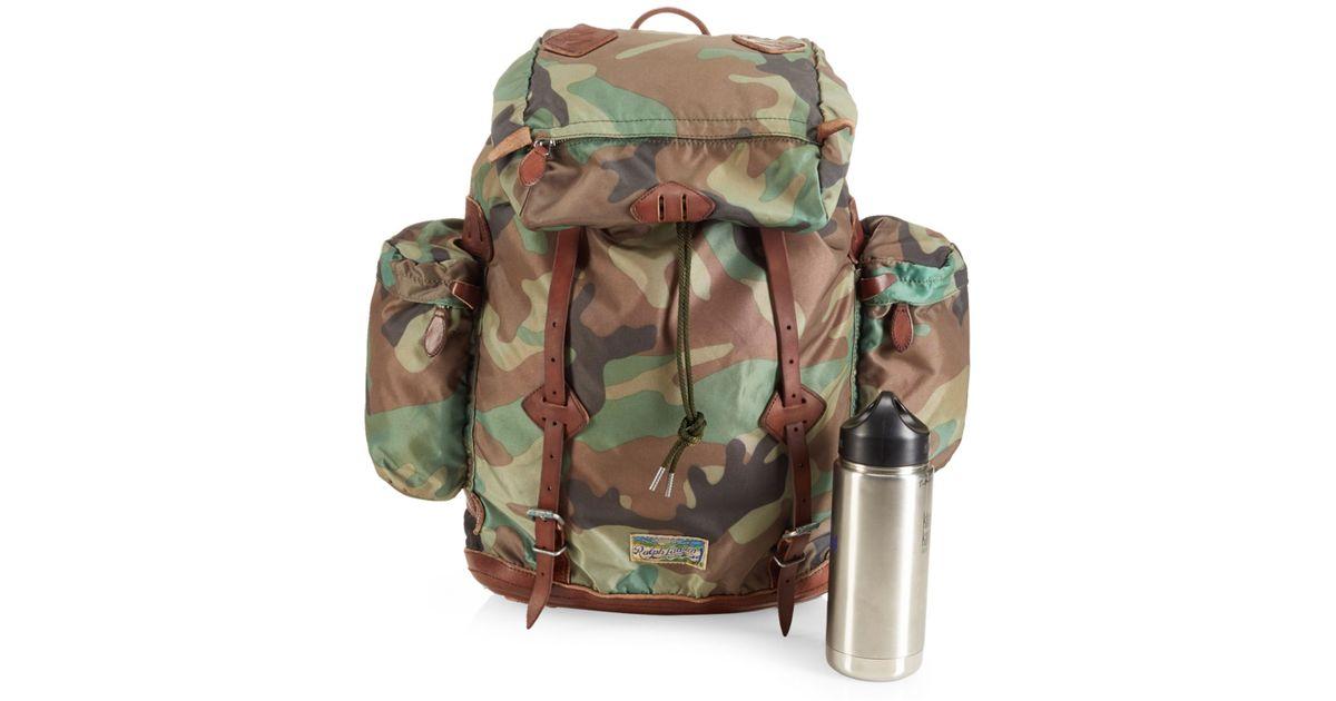 02327f3a0e Lyst - Polo Ralph Lauren Yosemite Nylon Camo Backpack in Green for Men