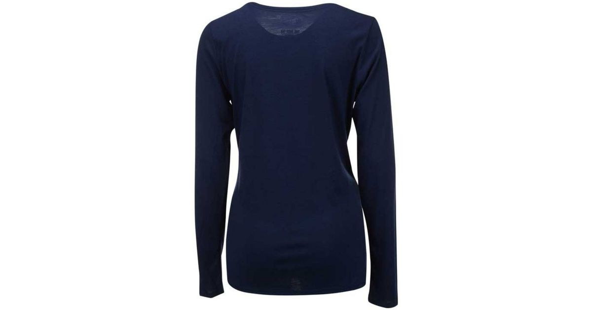 9df2560a6 Lyst - Nike Women s Long-sleeve Denver Broncos Logo Wrap T-shirt in Blue