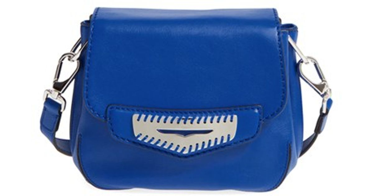 5cf82ace483 Tod's 'mini Mask' Leather Crossbody Bag in Blue - Lyst