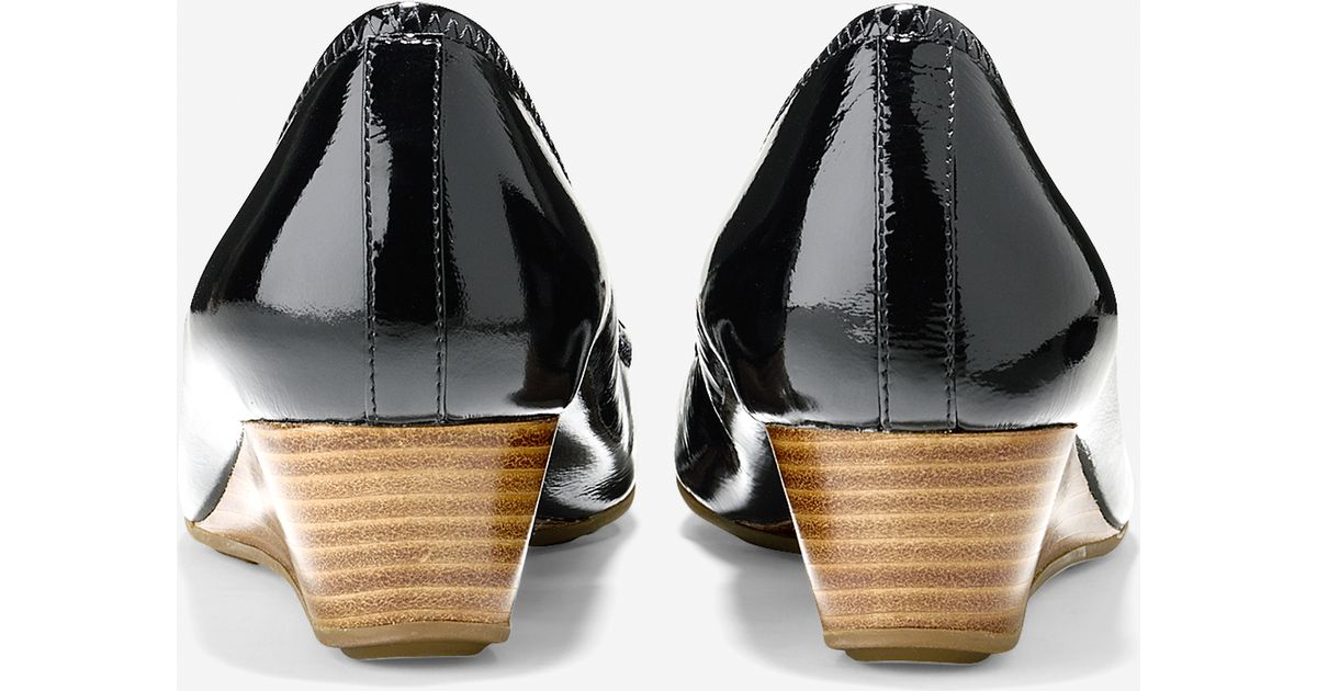 30a88afec938 Cole haan Air Tali Open Toe Wedge (40mm) in Black
