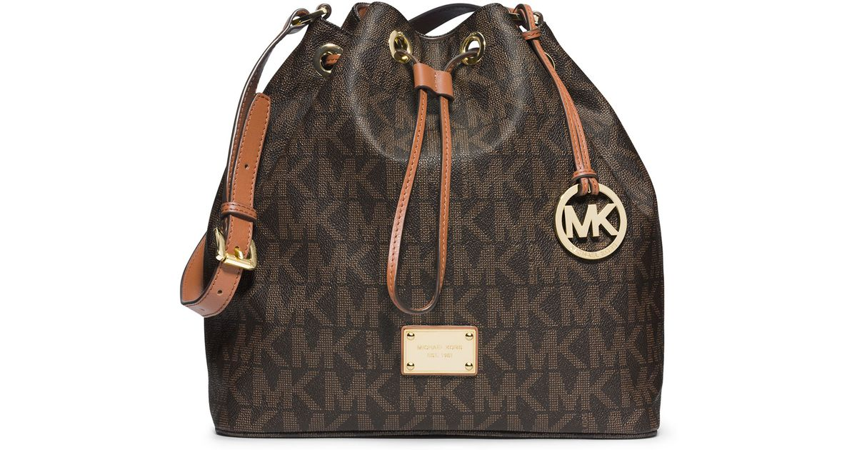23412878d96f MICHAEL Michael Kors Large Jules Drawstring Shoulder Bag in Brown - Lyst
