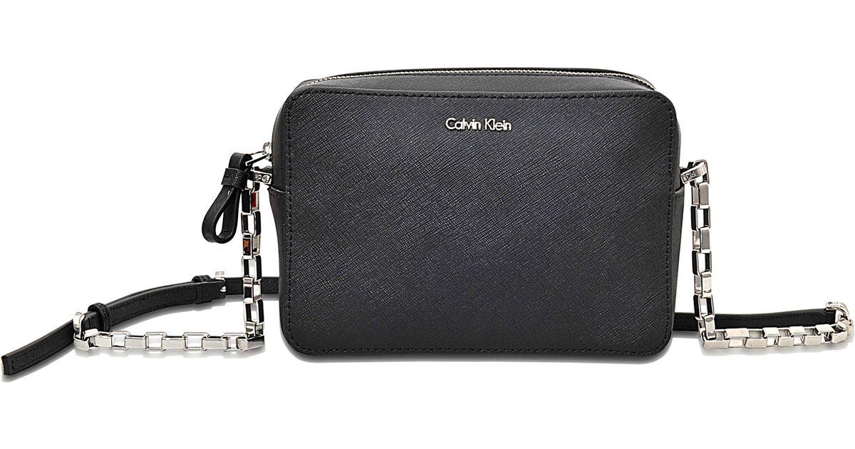 5c7a40a60d65 Calvin Klein Sofie Mini Crossbody Bag in Black - Lyst