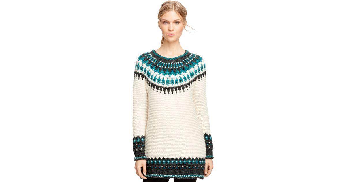 Brooks brothers Wool Blend Fair Isle Sweater in Blue | Lyst