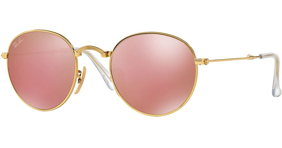 ecb28d1c302 Ray Ban Mirrored Round Sunglasses