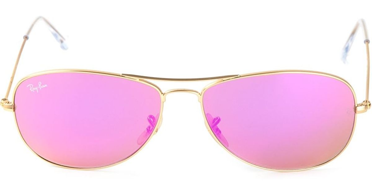 4a0b2e5fb0 Ray-Ban Cockpit Aviator Sunglasses in Pink for Men - Lyst