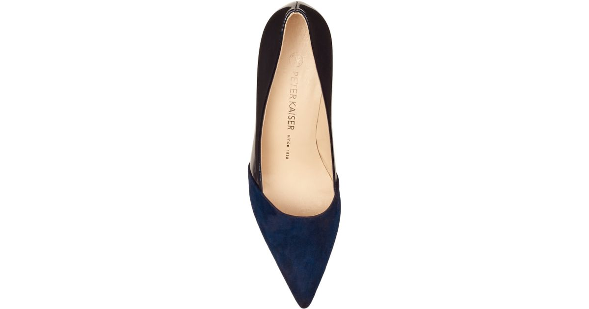 1aec597274b Peter Kaiser Semitara Mid Heeled Stiletto Court Shoes in Blue - Lyst
