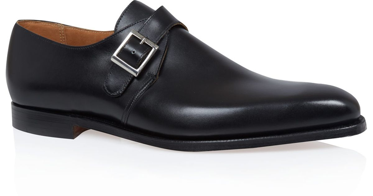 Men For Monk Black Shoes Jones Crockett In And Leather Strap axqCH