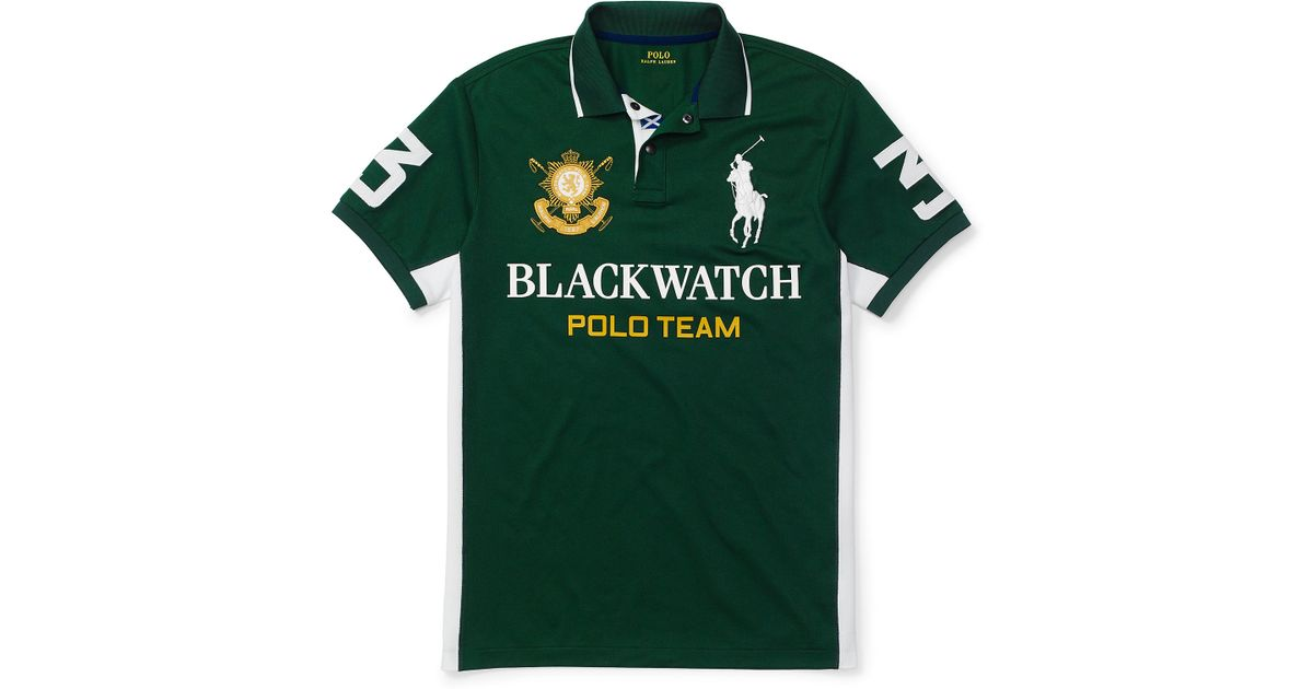 84726bac3706 Lyst - Polo Ralph Lauren Blackwatch Custom-fit Polo in Green for Men