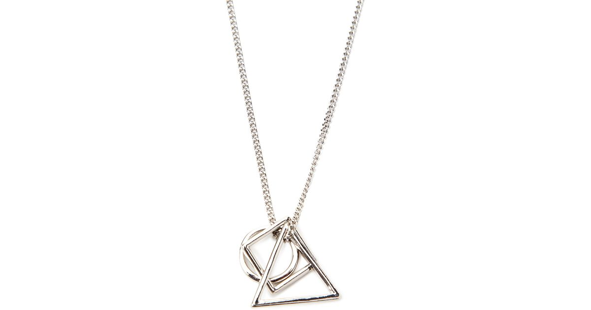 Lyst forever 21 geo shapes necklace in metallic for men aloadofball Gallery