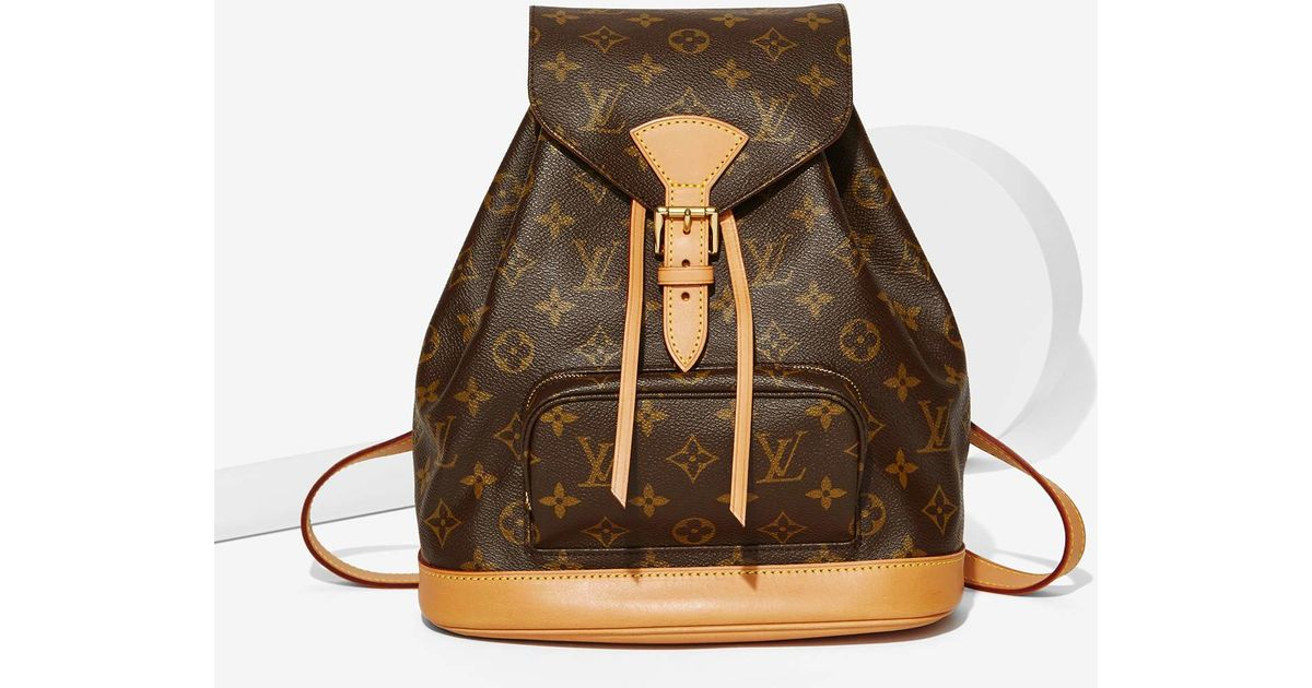 0a079813b22e Lyst - Louis Vuitton Vintage Monogram Montsouris Mm Backpack in Brown