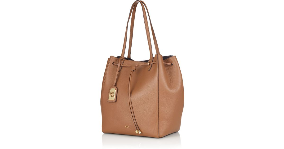 Ralph Lauren Tote Laukku : Pink pony lauren large oxford tote in natural lyst
