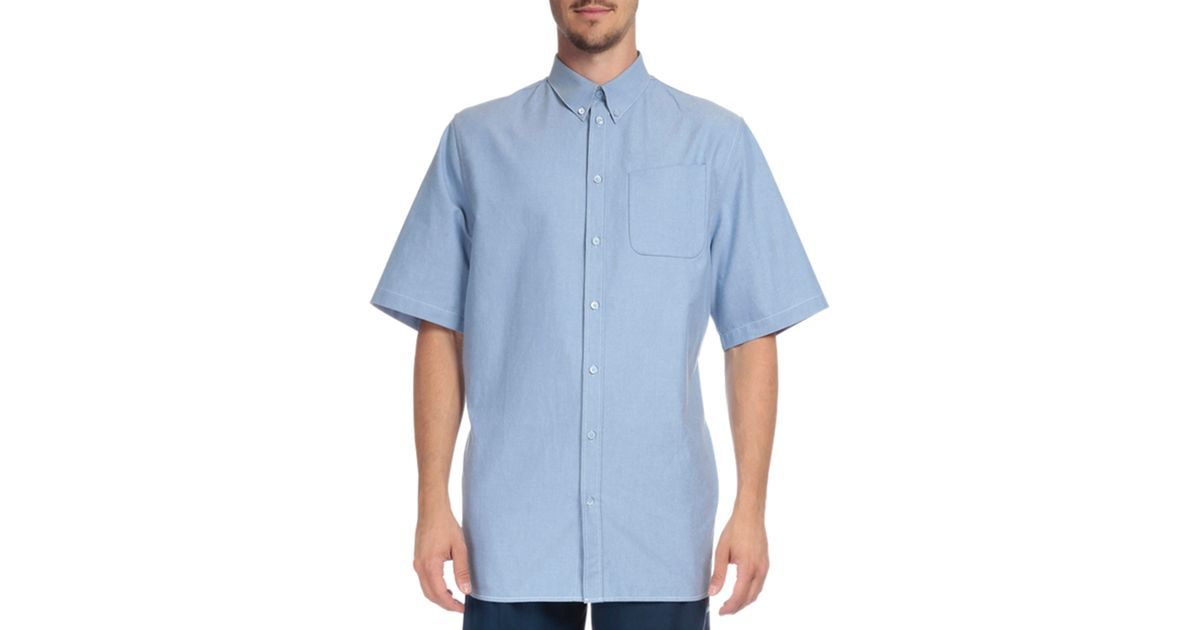 Lyst Givenchy Chambray Short Sleeve Button Down Shirt