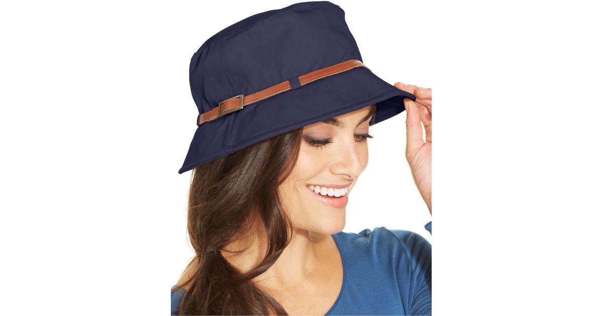 Lyst - Nine West Canvas Bucket Hat in Blue edbd590e40b
