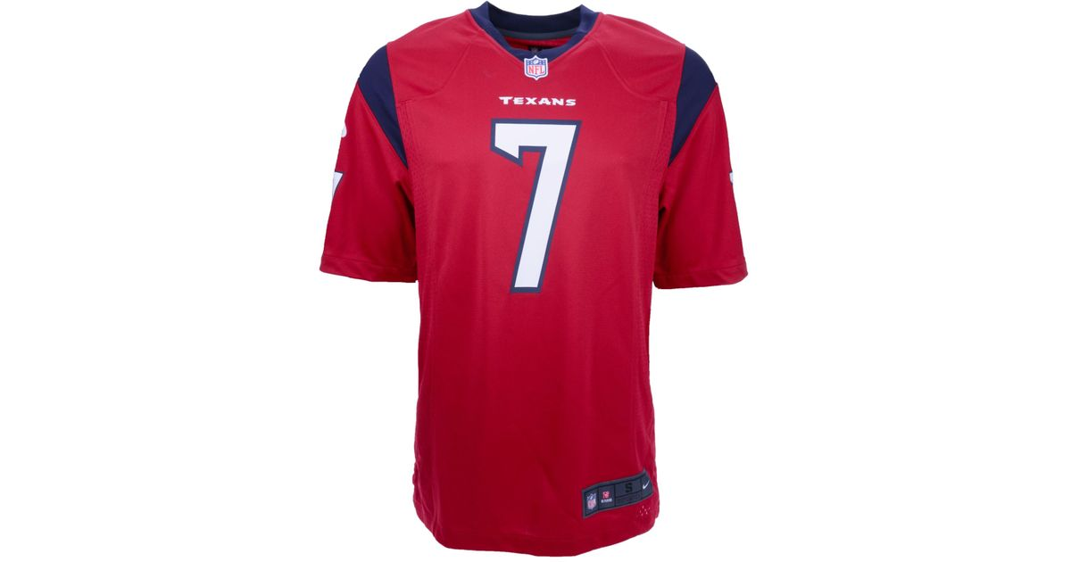 the latest daea2 dcf56 Nike - Red Mens Case Keenum Houston Texans Game Jersey for Men - Lyst