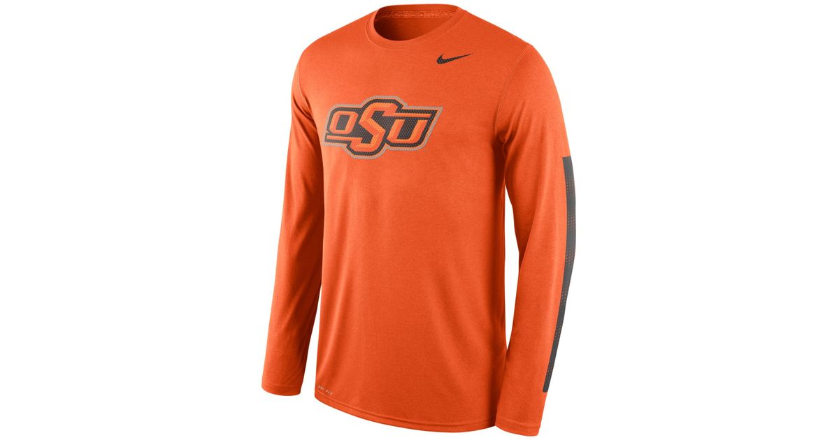 official photos 18639 b5e0d Nike - Orange Men's Long-sleeve Oklahoma State Cowboys Legend Dna T-shirt  for Men - Lyst