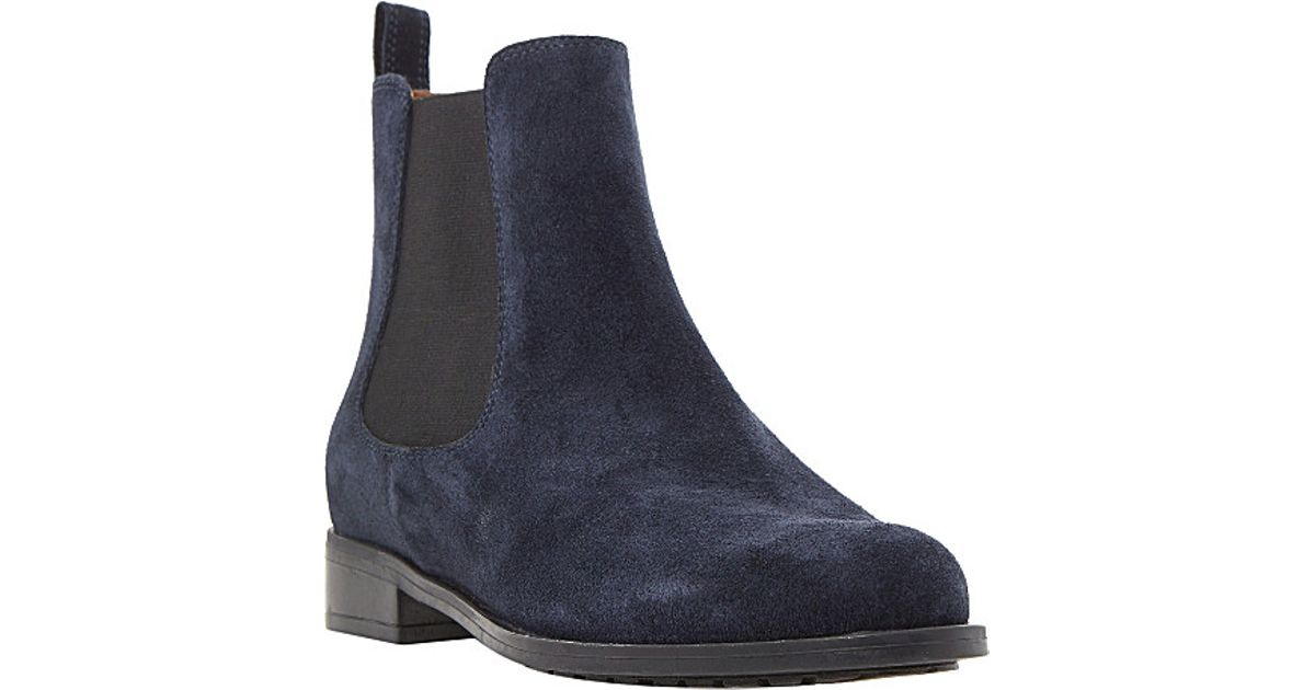 dune parry suede chelsea boots in blue lyst
